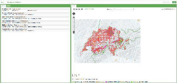 Verteilung der Neophyten in der Schweiz, eine interaktive Karte