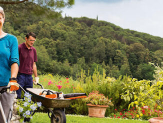 Stihl Geräte im Garten