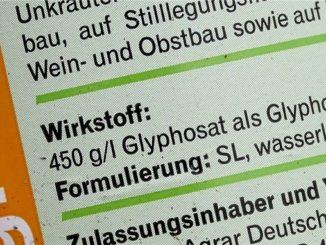 Glyphosat Text Packung