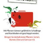 Plakat Zoll Pflanzeneinfuhr