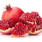 Aufgeschnittene Frucht des Granatapfels