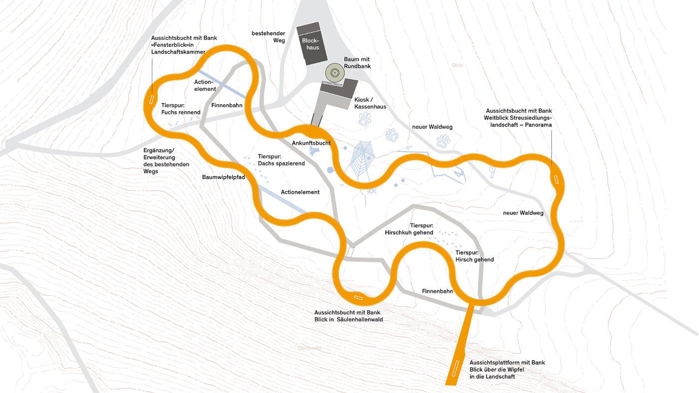Skizze Baumwipfelpfad Schwarzwald