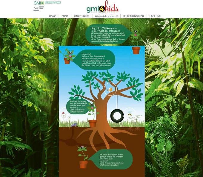 Bildausschnitt Webseite gmi4kids